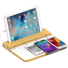quick charge multi device charging station for phones u0026 tablets