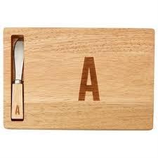 monogram cheese board monogram cheeseboard and spreader by indigo serving platters