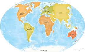 continents on map map by continents map by continent and country