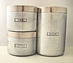 vintage art deco aluminum canisters kitchen pinterest