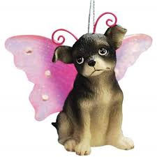 chihuahua puppy with wings ornament gifts