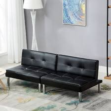 faux leather sofa beds ebay