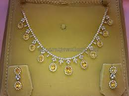 yellow sapphire necklace images Czs and yellow sapphires set bling me pinterest sapphire jpg