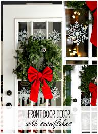 Door Decorations For Winter - door ideas with snowflakes it all started with paint