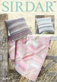 Knitted Cushion Cover Patterns Sirdar Aura Chunky 7882 Throw U0026 Cushion Covers Knitting Pattern