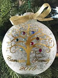 birthstone ornament personalized family christmas ornament