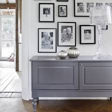 Slim Sideboards Simple White Hallway With Grey Sideboard Hallway Displays White
