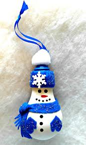 light bulb snowman adorable diy project