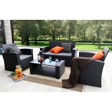 black wicker patio furniture wayfair