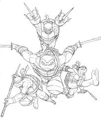 263 lineart tmnt images teenage mutant ninja