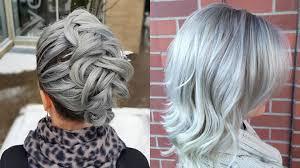 glamorous styles for medium grey hair grey hair trend 20 glamorous hairstyles for women 2018