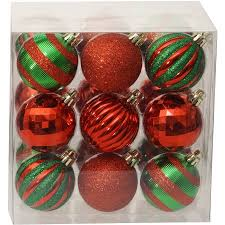 time ornaments traditional 60mm shatterproof set
