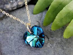 swarovski heart necklace blue images Bermuda blue heart necklace swarovski crystal 14k gold filled jpg