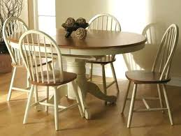 round table with 6 chairs painted pine round extending dining table and chairs painted pine