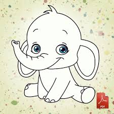 baby elephant coloring pages chuckbutt com