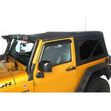 jeep wrangler 2 door soft top rugged ridge 13737 01 sailcloth soft top black diamond 10 15