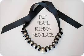 make ribbon necklace images Pearl ribbon necklace blog a la cart jpg
