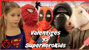 kid deadpool valentines in real life special with spiderman