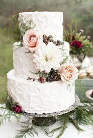 wedding cake flower three tiered white wedding cake with textured buttercream and fresh