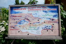 Sarajevo Map Chasing The Olympic Dream Cloudlessness