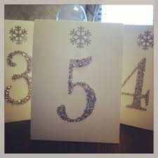 snowflake table top decorations winter table numbers with snowflakes and sparkle wedding
