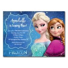 birthday lovely disney frozen birthday party invitation template