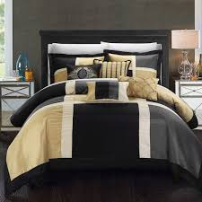 Gold And Black Comforter Set Chic Home Filomena Black Gold 7 Piece Comforter Set Free