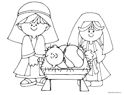 nativity coloring pages printable 06 classroom christmas tree