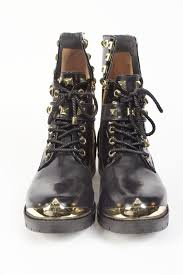 biker type boots black and gold biker style boots