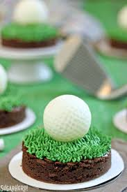 golf ball truffles and putting green brownies sugarhero