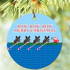 resin college rowing crew boat ornament set of 2 jafgifts