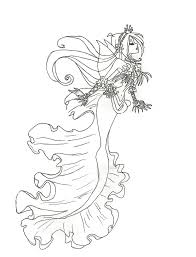 kleurplaat zeemeermin realistic mermaid coloring pages download