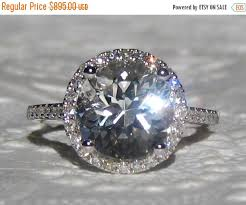 white topaz engagement ring valentines day sale white topaz in white gold diamond halo