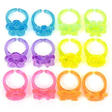 plastic rings images Neon plastic rings pk12 hawkin 39 s bazaar jpg