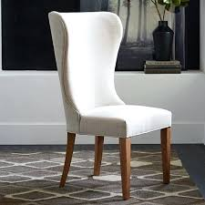 white leather wingback dining chair black red brown wing belfort