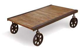 Vintage Coffee Table With Wheels Make A Rustic Coffee Table With Wheels Dans Design Magz