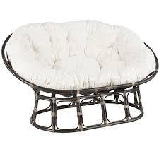 Papasan Chair Cushion Outdoor Furniture Round Rattan Double Papasan Chair Frame For Home