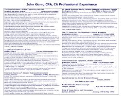 Staff Accountant Sample Resume by John Gunn Cpa Ca Resume