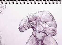 hulk sketches scott eaton