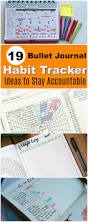 19 bullet journal habit tracker ideas to stay accountable at