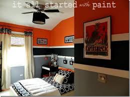 Teen Boy Bedroom Teen Boy Bedroom In Orange Gray Black