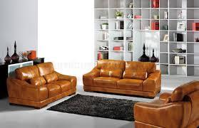 Italian Modern Sofas Cognac Full Top Grain Italian Leather Modern Sofa W Options