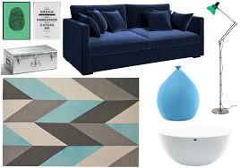 canap bleu ciel variations autour d un canapé bleu marine joli place