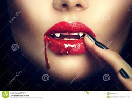 halloween vampire woman lips stock photo image 60840025