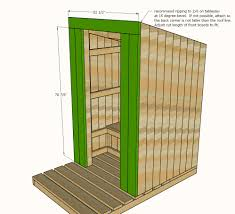 How To Build A Simple Storage Shed by Ana White Outhouse Plan For Cabin Diy Projects