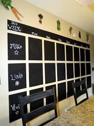 Wall Calendar Organizer Diy Chalkboard Wall Calendar Home Design Ideas