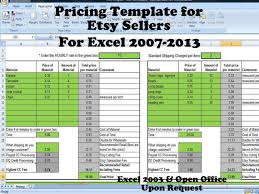 27 images of pricing spreadsheet template infovia net