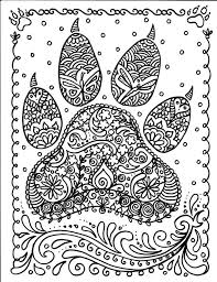 hard dog paw coloring pages hard coloring pages