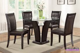 round glass dining room sets f2292 5 piece 48