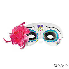 day of the dead masks of the dead half masks with flower